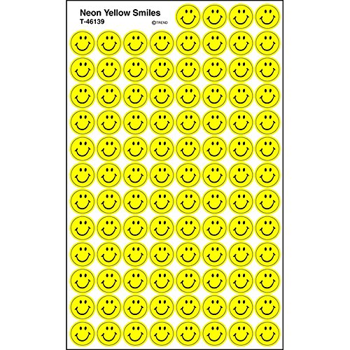 Sticker Neon Yellow Smiles