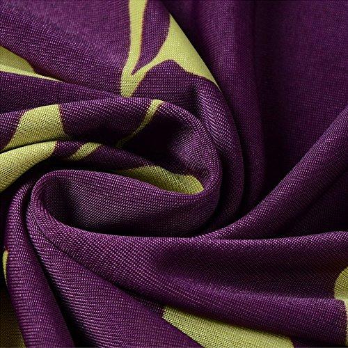 Katuo Damen Cape Shirt Kleid, lose, Baumwollmischung Purple Rose B-12