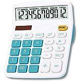 Mengshen Calculadora Grande, 12 dígitos Pantalla LCD Batería Solar Energía Dual Calculadora financiera dedicada Grande Calcul