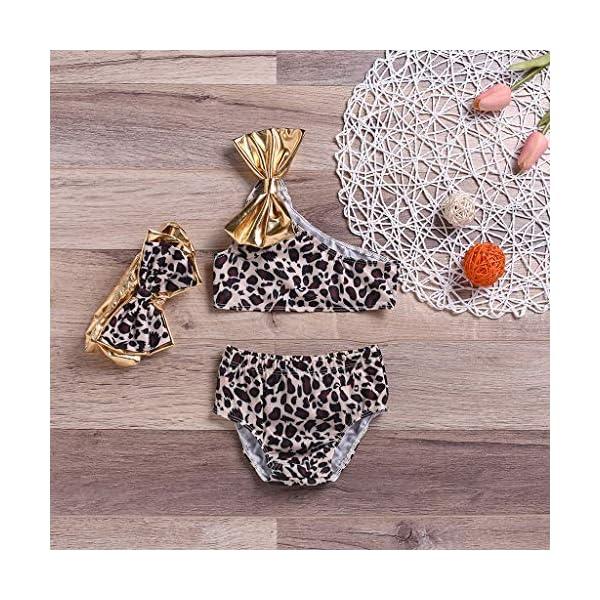 Heetey - Traje de baño para niña, diseño de Leopardo con Arco de Verano 2