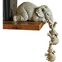Shunfaji Elephant Decoration,Statue Elephant,Statues Décoratives Mère éléphant Et 2 Bébés éléphants,,l'éléphant…