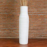 Leewadee Grande Vaso da Terra, 30x112 cm, Legno, white wash