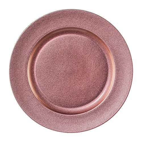 """Melamin TELLER rund """"SHINING"""". Dekoteller metallic 25cm, ROSA. Art.: 6017654-10"""
