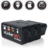 TONWON OBDII Bluetooth, Vgate vlinker MC+ OBD2 diagnoseapparaat, OBD-adapter, controleer de motorlamp voor Android, iOS en Wi