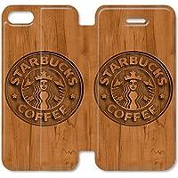 Funda iPhone 6 6S Plus 5.5 Inch Wallet Leather Case,Eartha Dolores Shop [Starbucks] 7W4VE