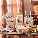 Cinque pezzi continentale bagno bagno in ceramica set di lavaggio-bagno fornisce nuove e innovative spazzolino colluttorio tazze,un