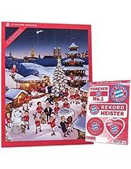 FCB FC Bayern München–XXL Comic Calendrier de l'Avent 2016+ autocollant carte–Chocolat