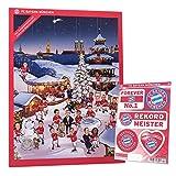 FCB FC Bayern München - XXL Comic Adventskalender 2016 + Aufkleberkarte - Schokolade