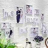 Cornice europea di stile cornice schermata combinazione creativa combinazione foto parete salotto muro appeso camera da letto combinazione muro foto ( Colore : Bianca )