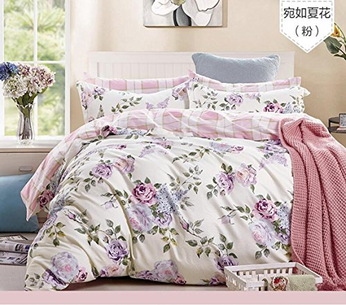 SJTOORT@,Vier Sätze Bettwäsche,The New Bedding Four Sets,European Cotton Four Sets, Suitable for Bed Size Twin, Queen
