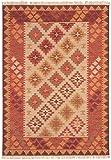 Asiatic Teppich Wohnzimmer Orient Carpet Design KELIM Rahmen Rug 80% Wolle 20% Jute 120x170 cm Rechteckig Orange | Teppiche günstig online kaufen