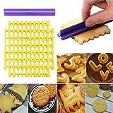 Molde para tartas con número de alfabeto – DIY alfabeto número letras galletas fondant galletas sello