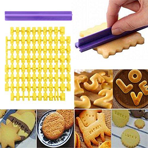 Süßes Alphabet Buchstaben Zahlen Keks Fondant Keks Stempel Präger Ausstechform Kuchen Form Dekoration Werkzeug Set
