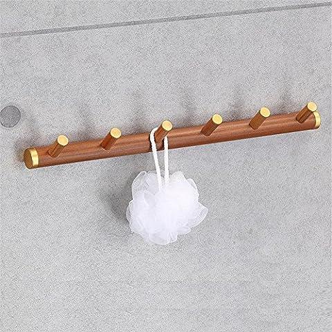 Modylee 6 accesorios de baño toalla gancho gancho de una sola fila con el medio ambiente y la madera duradera madera gancho , 437*63*27mm
