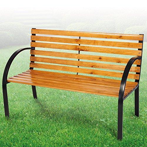 Gartenbank Liam Holz-Metall 122 cm - 2