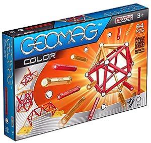 Geomag- Juego de Construcción, 64 Piezas, Color amarillo/naranja (253)