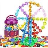 YEWJ Tabletas de copo de nieve de los niños, bloques huecos del enchufe de la lucha del jardín de la infancia, juguetes educativos de la educación temprana de los niños juguete ( Color : Large 200 -4.3CM )