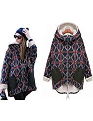 OMSMY Winter Herbst Damen Wintermantel Schöne Coat mit dem Flaum verdickte Parka Jacke Herbst Outerwear Coat Trenchcoat Steppmantel für Outdoor