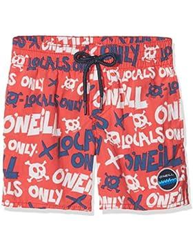 O'Neill Niño Stack Bañador para Hombre Kiama–Bañador, Niño, Stack Boardshorts, Red AOP W/Blue, 176