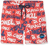 O'Neill Jungen Stack Boardshorts Bademode Badeshorts, Red AOP W/Blue, 152