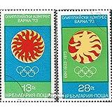 Bulgaria 2263-2264 (completa.edición.) 1973 Olimpo congreso (sellos para los coleccionistas)