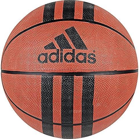 Adidas 3 Stripe Ballon de basket, 3 Stripe D 29.5, Orange / Noir, 5
