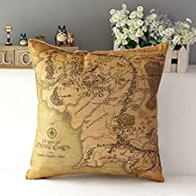 Kenneth case/Taies d'oreillers Lord of the Ring Cotton Cushion Cover Sofa Decorative Throw Pillow Chair Car 18X18 Inch(One Side)