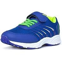 XL - Kids Blue & Green Easy Fasten Trainer - Size