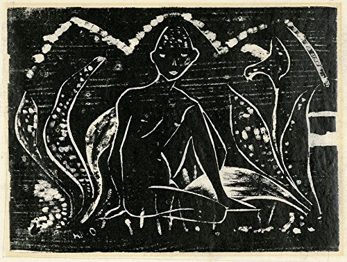 Das Museum Outlet–Otto Mueller–Knabe zwischen Blattpflanzen–1912, gespannte Leinwand Galerie verpackt. 50,8x 71,1cm