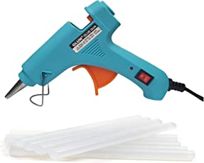 GLUN 20 Watt Leak Proof Glue Gun with 10 Glue Sticks 8-inch