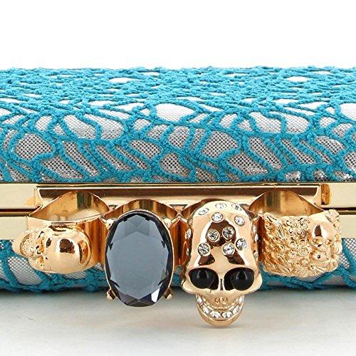 Ideal Shoes , Damen Clutch Blau