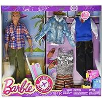 Barbie DMR49 Pink Passport Fashion Set - Blonde Ken Toy Doll With Travel Wardrobe Clothes and Passport