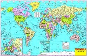 World political map wallpaper on fine art paper hd quality wallpaper world political map wallpaper on fine art paper hd quality wallpaper poster gumiabroncs Gallery