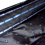 HH-NN-1968 5cm Stoffprobe Seidenstoff Jacquard Raute blau grau Meterware ca. 67cm breit (Kurzballen)