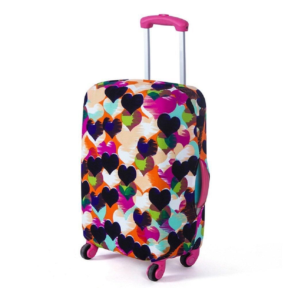 Artone Colorato Cuore Amoroso Spandex Viaggio Protezione Bagagli Bagaglio Copertura Valigia Adatti I