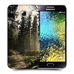 Snoogg Forest Pathway Printed Protective Phone Back Case Cover ForSamsung Galaxy E5