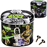 alles-meine GmbH Spardose -  Star Wars - Yoda & Drath Vader  - inkl. Name - mit 2 Schlüssel u..