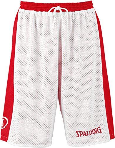SPALDING - ESSENTIAL REVERSIBLE SHORT - Short de basket - Short reversible - Confort maximal - rouge/blanc - 3XL