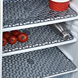 #5: E-Retailer™ Premium Quality Anti Slip Fridge Drawer Mat Set (Size 12X17 inches, Set of 3, Color- Grey)