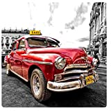 Coches Antiguos - Old Taxi, Cuba Cuadro En Vidrio Acrílico (29 x 29cm)