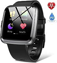 Hommie Orologio Smartwatch Donna Uomo Touch Screen, Orologio Fitness Donna Impereabile con Bluetooth, Contapassi, Pedometro