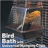 Generic Deluxe Bird Bathtub Bath Box Cage Accessory for Bird