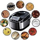 Russell Hobbs 21850-56 Multi Cuiseur 900W CookAtHome, 11 Programmes Combinables, Panier Vapeur, Gobelet Mesureur, 2 Cuillères