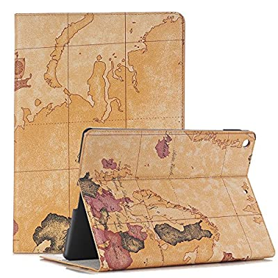 Map Pattern Premium Luxury PU Leather Flip Wallet Slim Book Case Ultra-slim Lightweight Smart Cover by Miya System Ltd