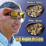 Baonmy HD Nachtsicht Brillen Nachtsichtbrille Anti-Glanz Fahren Brillen