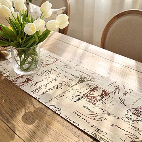 Tischläufer Baumwoll-lepra-tabelle flagge garten frisch drucken tv-schrank couchtisch tischläufer-C 35x200cm(14x79inch)