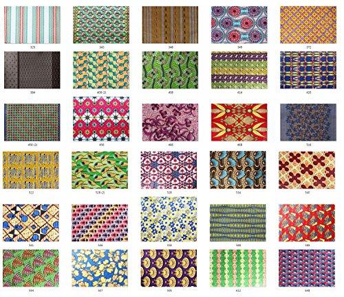 Afrikanischer Stoff Unisex Traditionelles Dashiki Kunstdruck Batik Floral Drucken Stoff Weich Print Afrikanisches Bastrock bedruckt 100% Baumwolle 2 Yard=117cm*165cm