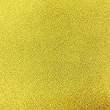 Kraftz:confezione da 10fogli adesivi in gomma eva; colore: oro; dimensioni: A4; glitterati; per decorazioni fai da te, casa, ufficio, feste e bricolage