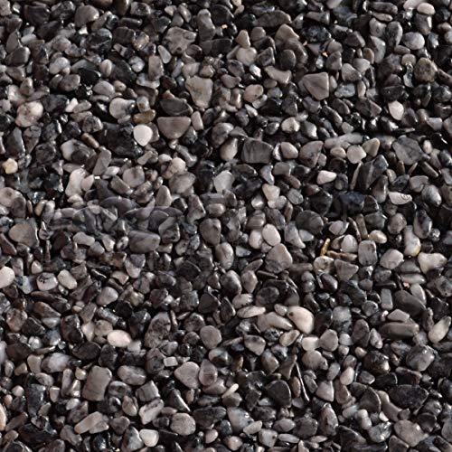 Steinteppich Set  Schwarz 75kg kg inklusive  4,5kg Bindemittel