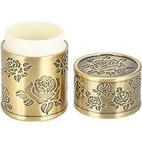 Boîte de cure-dents Vintage porte-coton-tige Qinggu créatif haute qualité Rose rétro lumière luxe double boîte de cure…